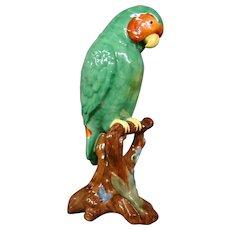 Copeland Spode lovebird parakeet budgie figurine glass eyes