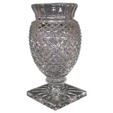 St Louis French crystal grandiose Medicis pedestal foot vase