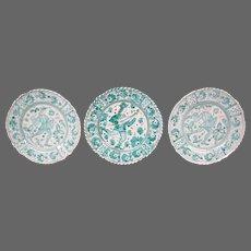 Grazia Deruta tin glazed Italian  majolica classical figures musician plates