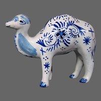Delft pottery camel figurine figure signed