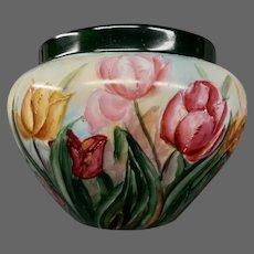 Limoges Elite hand painted tulips jardiniere