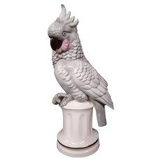 German US Zone porcelain cockatoo bird figurine perfume lamp