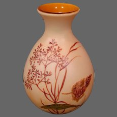 Legras French cameo glass vase aquatic life  seaweed