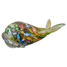 Murano Italian art glass Venetian whale original sticker