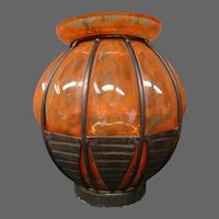 Daum Nancy Louis Majorelle art deco mold blown vase