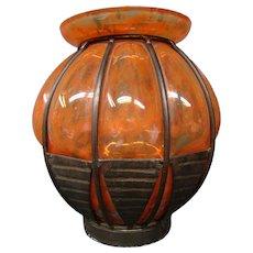 Daum Nancy Louis Majorelle art deco mold blown vase