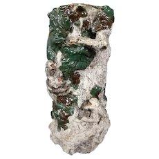 Sumida Gawa Japanese art pottery vase monkey RARE