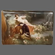 Hutschenreuther porcelain nude woman portrait plaque artist signed Wagner