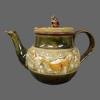 Royal Doulton art pottery fish and bubbles teapot George Tinworth
