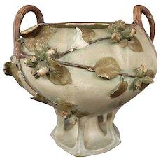 Austrian Amphora art pottery vase leaves and berries