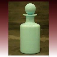 French blue opaline glass dresser bottle