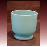 Blue opaline art glass vase