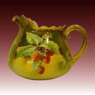 Limoges Stouffer strawberry pitcher Pickard artist Heap