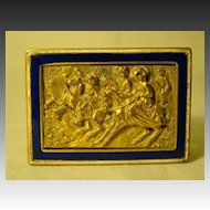 French Napoleon III Palais Royale dore bronze enamel match safe