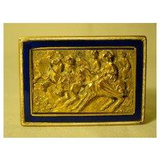 French Napoleon III Palais Royale dore bronze enamel match safe
