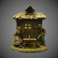 Antique Rampant Lion Globe Oil Lamp Marked Brevete Finer
