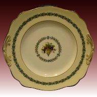 Wedgwood china Appledore handled cake plate