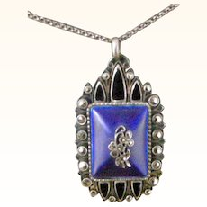 Pendent Necklace by Theodor Fahrner 800 Silver and Enamel