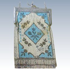 Deco Large Mandalian Enamel Mesh Bag Purse