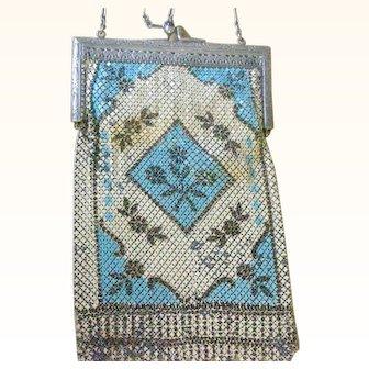 Deco Large Mandalian Enamel Mesh Bag Purse