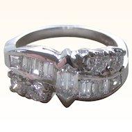 STUNNING Vintage Diamonds Set in Platinum Band Ring Fancy Cut Diamond Center 30% OFF ORIGINAL PRICE