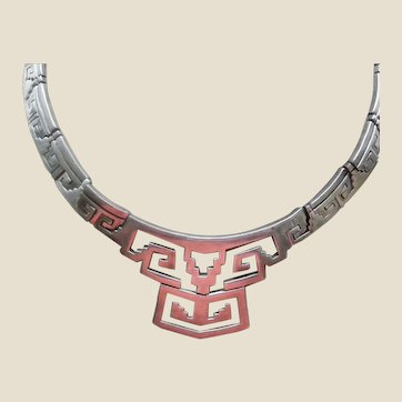 Vintage Taxco  Sterling Silver Necklace STATEMENT!