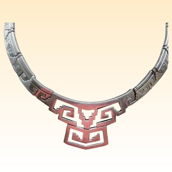 Vintage Taxco All Sterling Silver Necklace