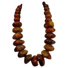 Original Stacey Porter Huge Tibet Copal Bead Necklace