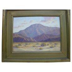Walter Albert Engelhardt California Landscape Desert Mountain Oil Painting