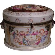 Antique Capo-di-Monte Porcelain Dresser or Jewelry Box