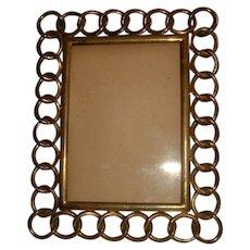 Antique English Brass Ring Frame