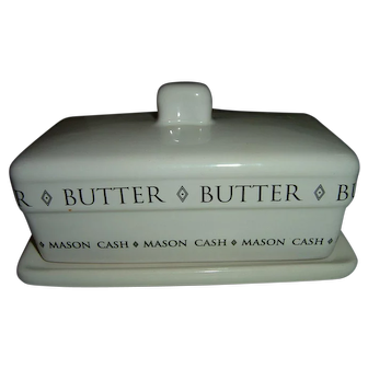 Vintage Mason And Cash Ironstone Butter Dish