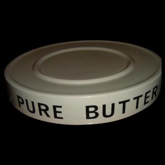 Antique English Ironstone Butter Slab Grocer Display Huge Super