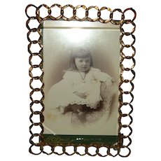 Vintage English Brass Ring Frame