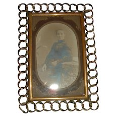 Antique English Brass Ring Frame #2