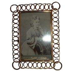 Antique English Brass Ring Frame Super