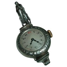 Antique English 900 Silver Trench Wristwatch. Lovely - Red Tag Sale Item