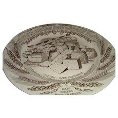 Vintage English Bread & Cheese Plate John Buck Kitchenalia