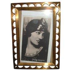 Antique Brass Picture Frame 2 Ways Rare