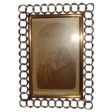 Antique English Brass Ring Frame #1