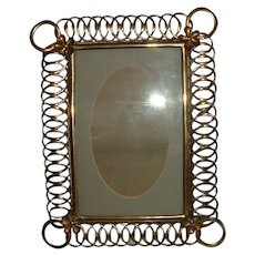 Antique Brass English Ring Photo Frame #3