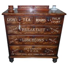 Antique English Chest Advertising Lyons Tea Room Fabulous
