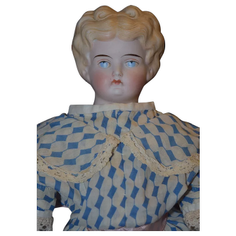 Super nice painted eye parian antique doll
