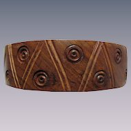 Vintage Hand Carved Teak Bangle