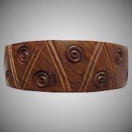 Vintage Hand Carved Teak Bangle