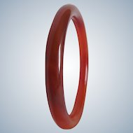 Vintage Semi Precious Travertine Polished Tube Bangle