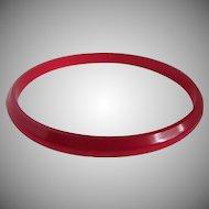 Vintage RED  Prystal Bakelite Cherry Juice Slender Bangle