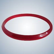 Vintage RED  Prystal Bakelite Cherry Juice Slender Bangle