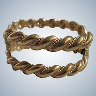 Vintage GP* Stamped Napier Twisted Rope Style with Excellent Clasp Cuff Style Bracelet