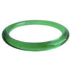 Vintage Green Transparent Lucite Tube Bangle